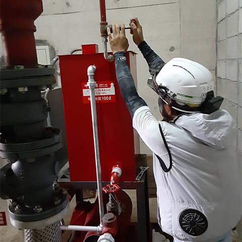 消火用呼水槽維持管理